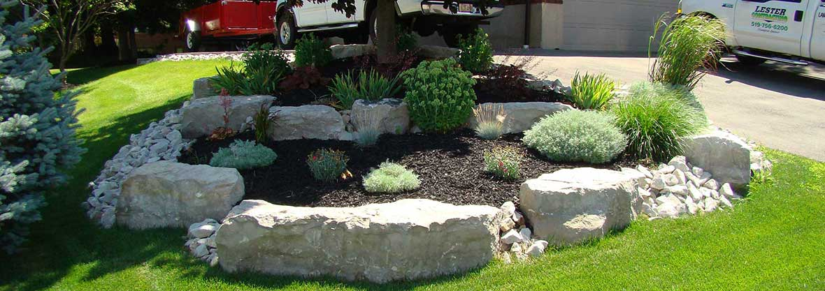 Landscaping and design lawns decorative concrete lester contracting - Decorative stone garden landscaping ideas ...