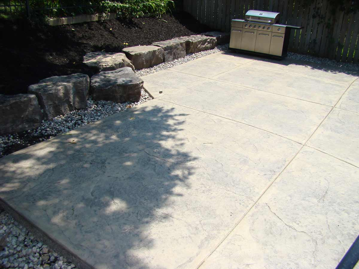 Flagstone Stamped Concrete Patio